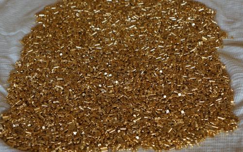 Покрытие деталей золотом россыпью