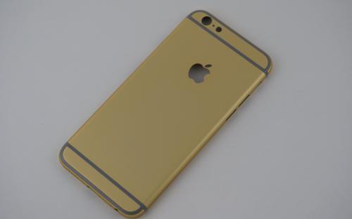 Покрытие iPhone 6 в золотистый цвет